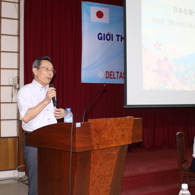 Ngài Kawai Kanji, Chủ tịch HĐQT Công ty Cổ Phần Deltasoft đang thuyết trình
